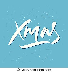 Xmas Holiday Lettering