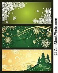 Xmas horizontal green banner