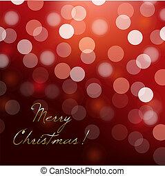 Xmas Illustration - Defocused Red Christmas Background