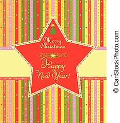 Xmas label with star