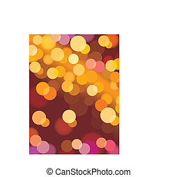 Xmas lights, vector - Christmas background with glowing...