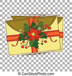xmas postcard. Vintage Christmas pattern. Greeting cards, banners, letters from Santa Claus, labels and stickers