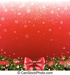 Xmas Poster With Border With Gradient Mesh