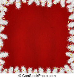 Xmas Red Poster With Gold Stars