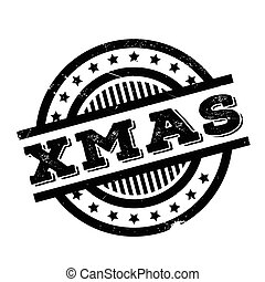 Xmas rubber stamp