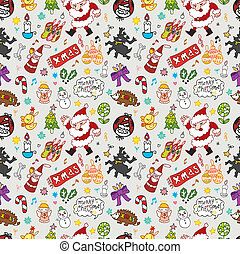 Xmas seamless pattern