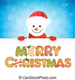 Xmas Snowman With Text