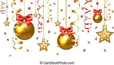 Xmas Stars And Christmas Balls