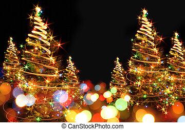 xmas tree - abstract color christmas tree from xmas lights