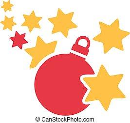 Xmas tree ball with stars