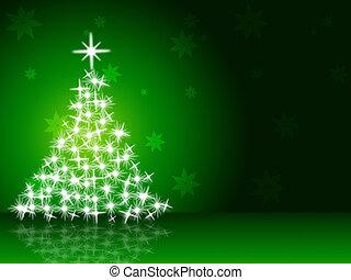Xmas Tree Representing New Year And Winter