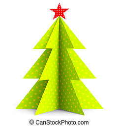 Xmas Tree Showing New Year And Abstract
