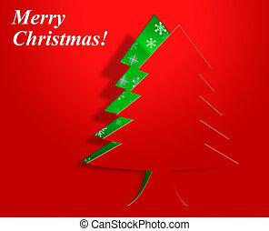Xmas Tree Represents Congratulation Holiday And Seasonal -...