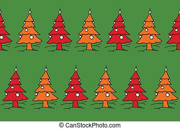 xmas trees forest