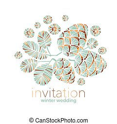 Xmas vibes pastel teal green pine cone composition