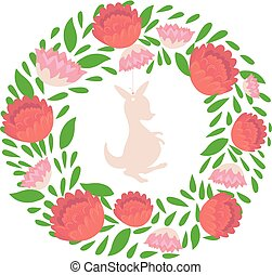 Australian native flowers vector. Vector illustration of ...