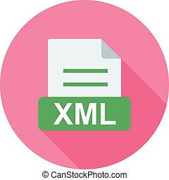 XML, file, website icon vector image. Can also be used for...