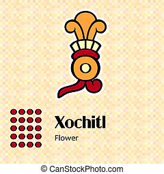 xochitl, symbole, aztèque