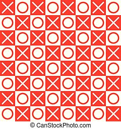 XOXO Checkered Background - A repeatable tile pattern of X...