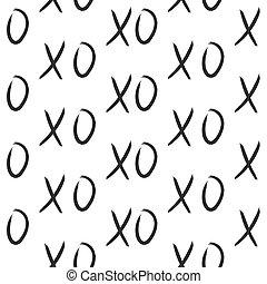 XOXO hugs and kisses seamless pattern.
