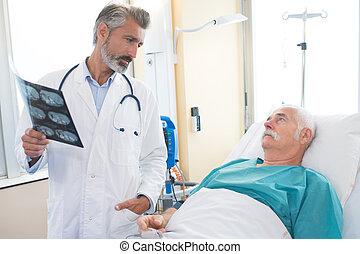 xray, expliquer, patient, résultats, docteur