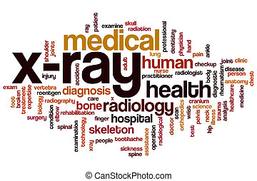 Xray word cloud - Xray concept word cloud background