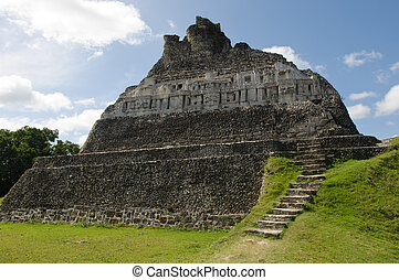 xunantunich, ruína, mayan, -, belize