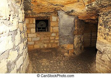 (xviii-xx, catacombes, century), vieux, odessa, ukraine