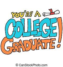 xx, messaggio, laureato università