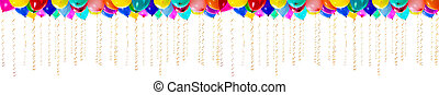 XXL high resolution colourful balloons isolated on white