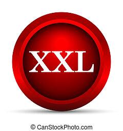 XXL  icon. Internet button on white background.