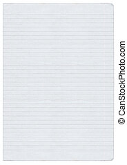 XXL size ined paper - XXL size piece of lined paper isolated...