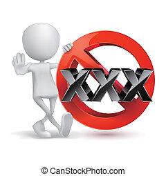 xxx, adultes seulement, contenu, signe., âge, limite, icon., à, 3d, type