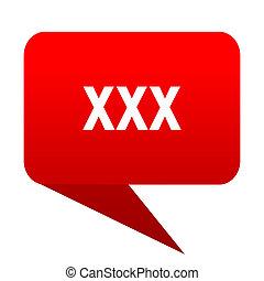 xxx bubble red icon