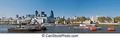 XXXL - City of London Skyline - Panoramic picture of the...