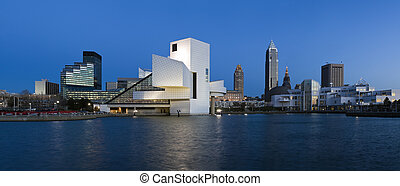 XXXL Downtown Cleveland after sunset