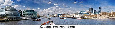 xxxl, město, -, londýn, skyline.
