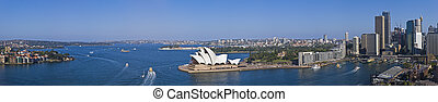 xxxl, panorama, maravilloso, puerto de sydney