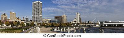 XXXL Panoramic Morning in Milwaukee, Wisconsin.