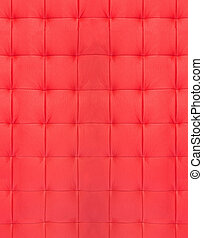 red quilted leather