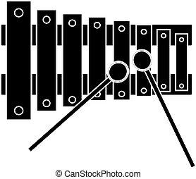 Xylophone icon isolated on white background