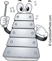 Xylophone Mascot - Illustration of a Xylophone Mascot...