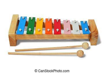 Xylophone on white