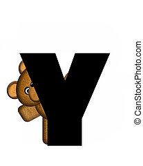 y, alfabet, teddy