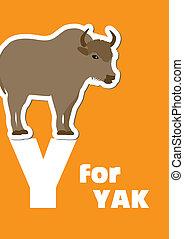 y, alphabet, yak, tier, f