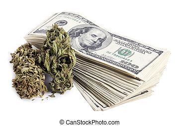 y, efectivo, marijuana