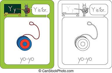 y, flashcard, 手紙