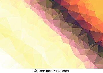 y, ilustración, geométrico, colores, poly, resumen, vector, ...