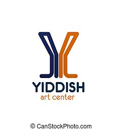 Y letter vector icon for Yiddish art center - Y letter icon...
