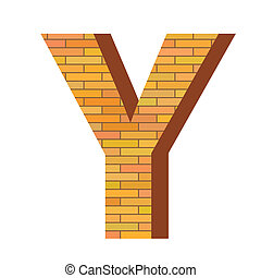 y, mattone, lettera